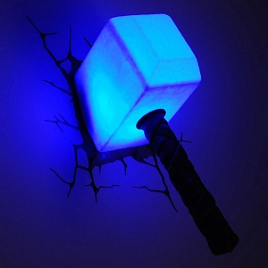 Thor Hammer 3D Decorative Wall Lamp