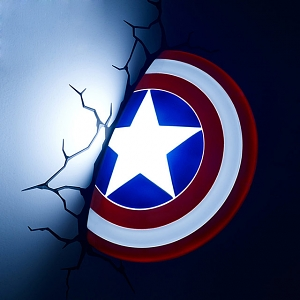 Captain America Shield 3D Decorative Wall Lamp