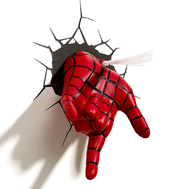 Spider-Man Hand 3D Decorative Wall Lamp