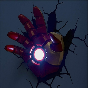 Iron Man Hand 3D Decorative Wall Lamp