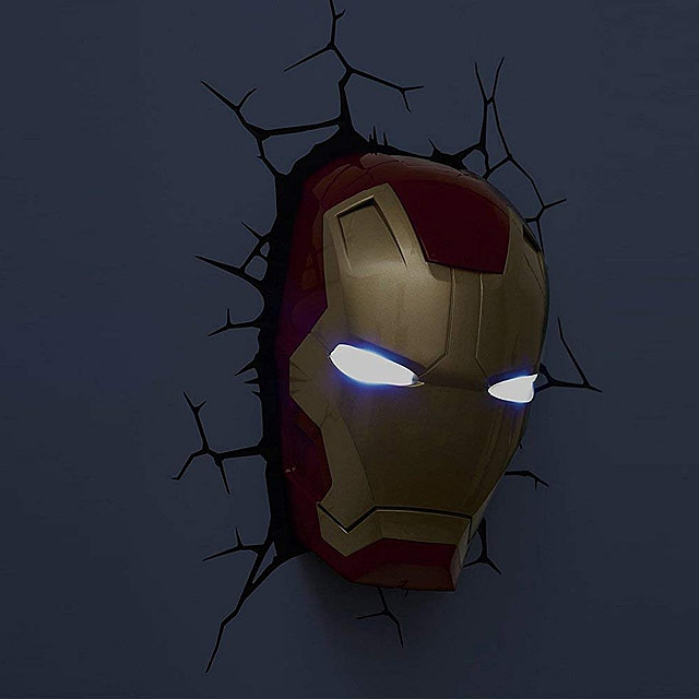 Iron Man Mask 3D Decorative Wall Lamp