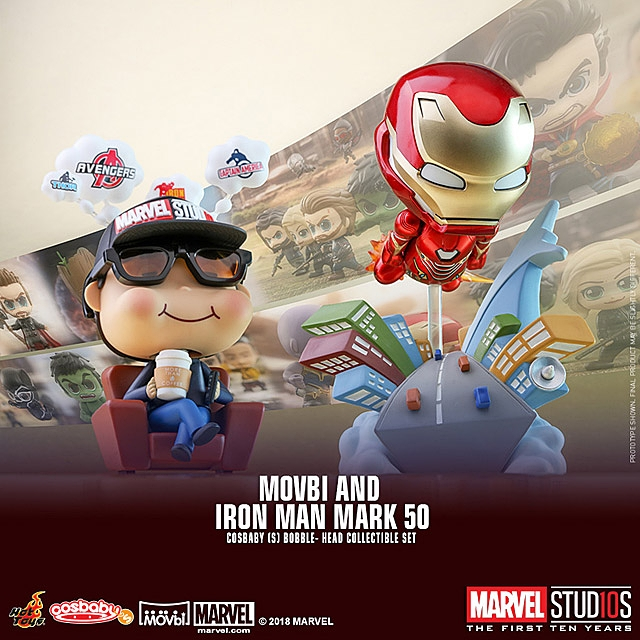 Hot Toys Movbi and Iron Man Mark L Cosbaby (S) Bobble