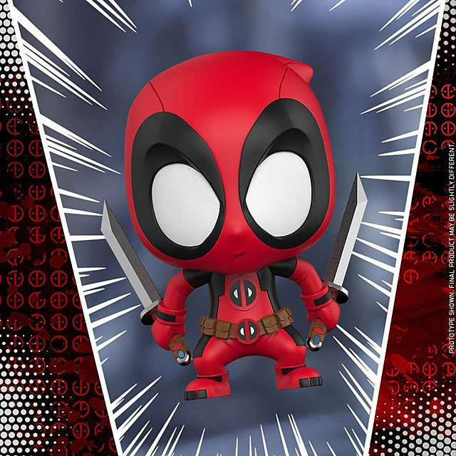 Hot Toys Lady Deadpool Kidpool Dogpool Cosbaby (S) Bobble-Head Collectible Set