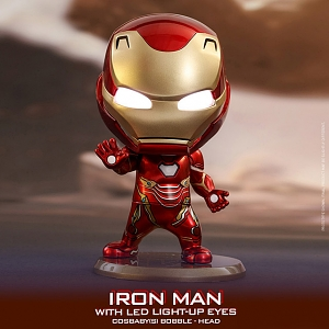 Hot Toys Iron Man Mark L with LED Light-Up Eyes Version Cosbaby (S) Bobble-Head