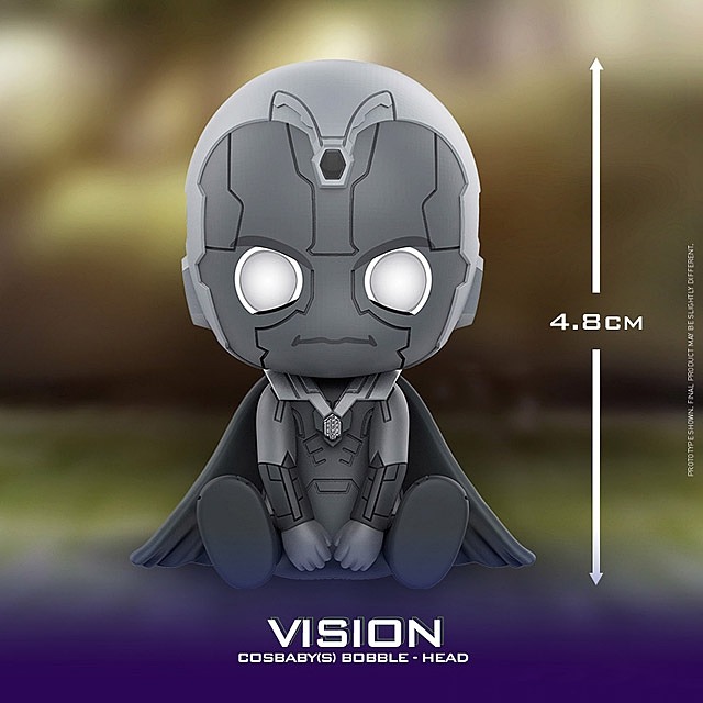Hot Toys Thanos and Vision Cosbaby (S) Bobble-Head Collectible Set