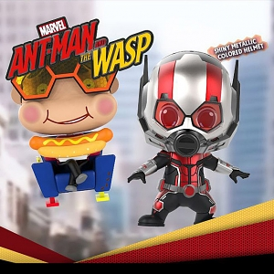 Hot Toys Ant-Man and Wasp - Ant-Man and The Wasp Movbi Cosbaby (S) Bobble-Head Collectible Set