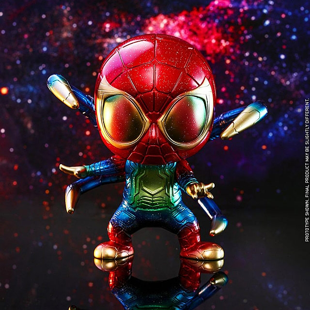 Avengers Endgame Hot Toys Cosbaby Iron Spider Metallic Gold Version Spider-Man