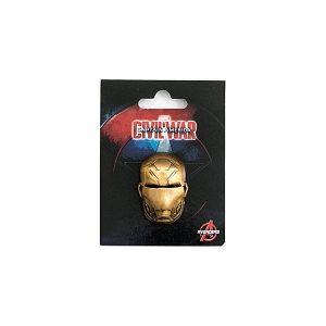Marvel Gold Iron Man Head Brooch