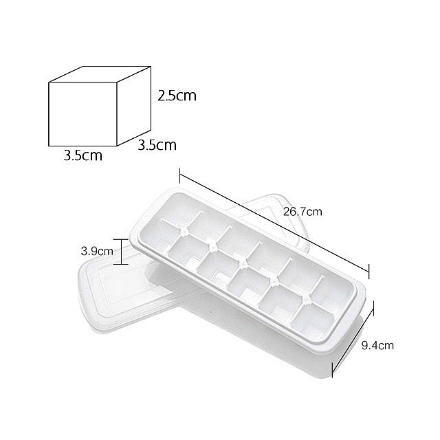 12-Cube Ice/Jelly Mold