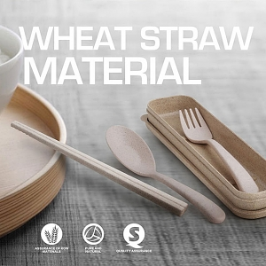 Wheat straw material Dinnerware Set (3pcs)