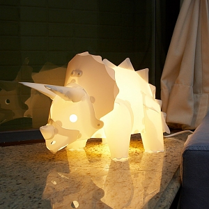 DIY Assemble Dinosaur Lights Set - Triceratops