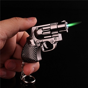 Mini Metallic Police Revolver Gun Lighter