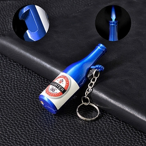 Mini Beer Lighter Keychain