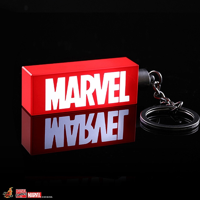 Hot Toys Illuminated Marvel Logo Keychain