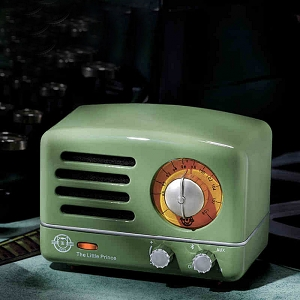 Retro Mini Metal FM Radio Bluetooth Speaker - Green
