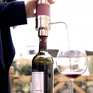 Portable Electronic Wine Aerator Pump Dispenser
