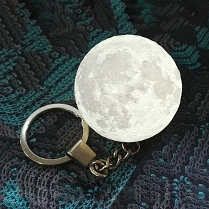 Mini 3D Moon Keychain