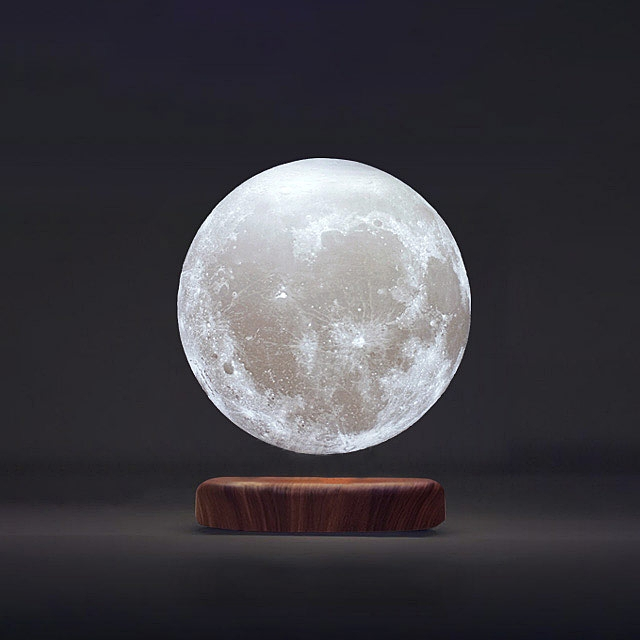 Magnetic Levitation Floating Moon 3d Printing Led Night