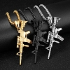 Titanium Steel AK-47 Assault Rifle Necklace