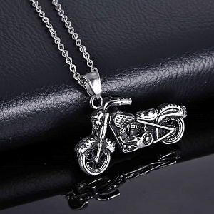 Titanium Steel Motorcycle Necklace