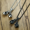 Titanium Steel Double Gloves Necklace