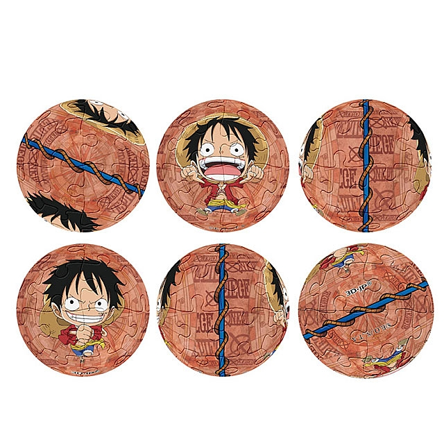 3D Mini Puzzle Ball Keychain - One Piece Luffy