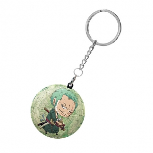3D Mini Puzzle Ball Keychain - One Piece Zoro