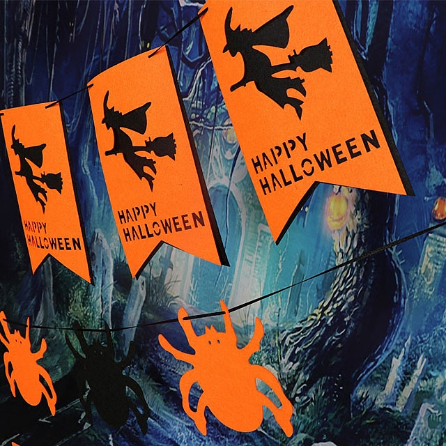 Halloween Non-Woven Hanging Flag Banner