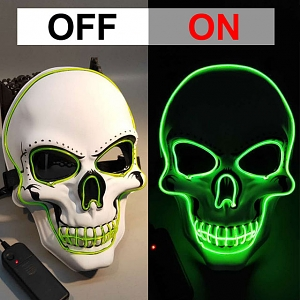Halloween Skull Glowing LED Mask