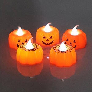 Halloween 3D Pumpkin Candle Lamp