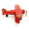 Retro Metal Clockwork Red Curtiss Biplane