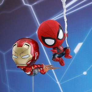Hot Toys Spider-Man & Iron Man Mark 47 Cosbaby (S) Bobble-Head Collectible Set