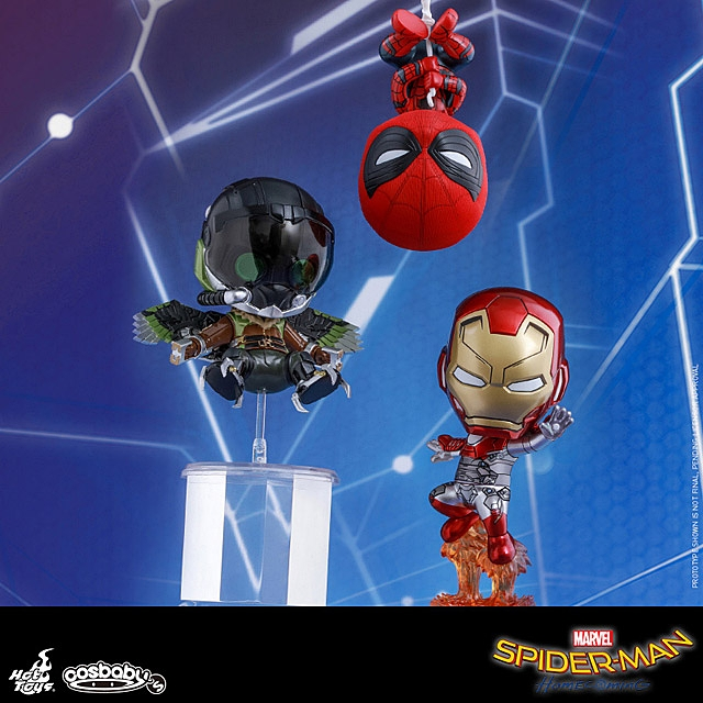 Hot Toys Spider-Man Iron Man Mark 47 Vulture Cosbaby (S) Bobble-Head Collectible Set
