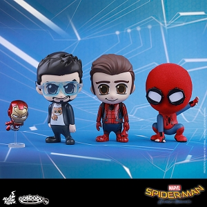 Hot Toys Spider-Man Homecoming Cosbaby (S) Bobble-Head Collectible Set