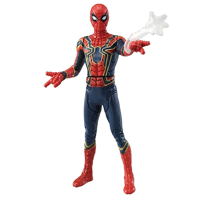 Takara Tomy Tomica Metal Figure Collection - Marvel Iron Spider (Web Shooter Ver.)