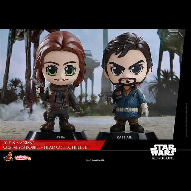 Hot Toys Star War Rogue One - Jyn & Cassian Cosbaby (S) Bobble-Head Collectible Set