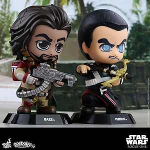 Hot Toys Star War Rogue One - Chirrut & Baze Cosbaby (S) Bobble-Head Collectible Set
