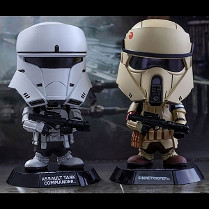 Hot Toys Star War Rogue One - Assault Tank Commander & Shoretrooper Cosbaby (S) Bobble-Head Collectible Set