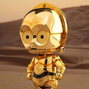 Hot Toys Star Wars C-3PO Cosbaby (L) Bobble-Head