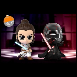 Hot Toys Star Wars - The Rise of Skywalker (Rey and Kylo Ren) Cosbaby (S) Bobble-Head