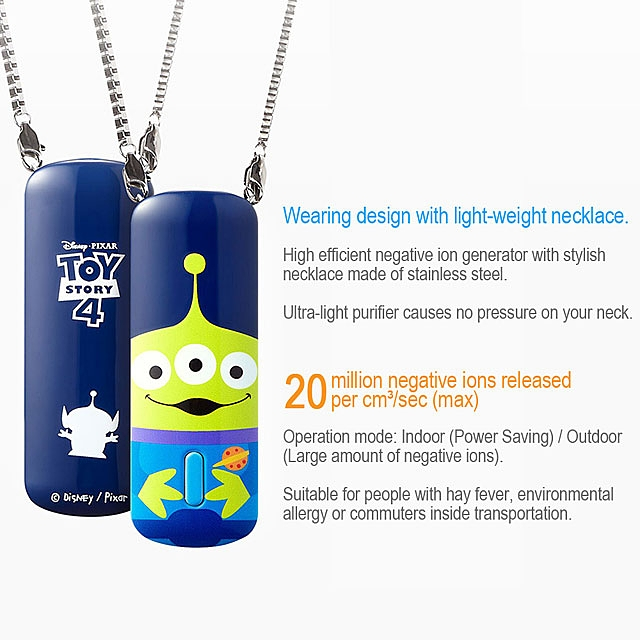 infoThink Toy Story 4 Negative Ion Portable Air Purifier - Alien