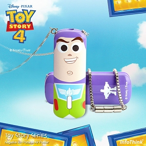 infoThink Toy Story 4 Negative Ion Portable Air Purifier - Buzz Lightyear