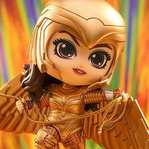 Hot Toys Wonder Woman 1984 - Golden Armor Wonder Woman (Flying Version) Cosbaby (S) Bobble-Head