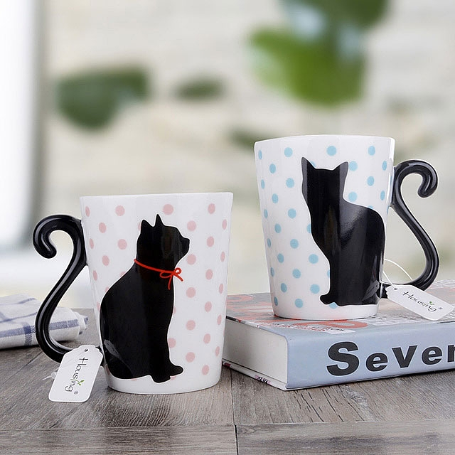 Cute Cat Couple Mug