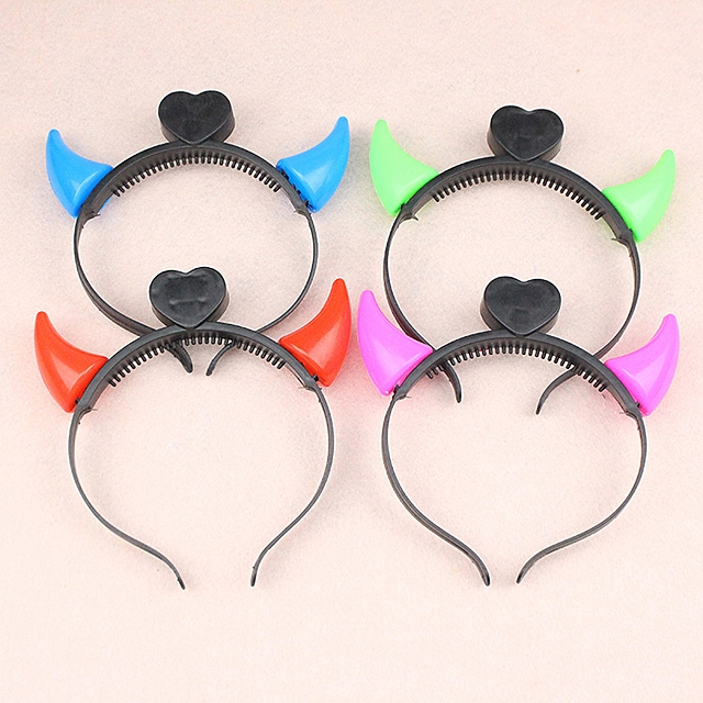 Mini Devil LED Horns Headband