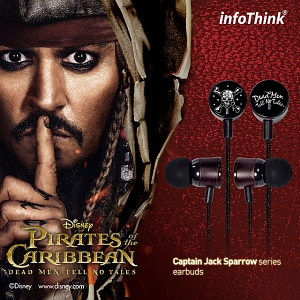 infoThink Pirates of the Caribbean (2017) Skeleton 3.5mm Earbuds