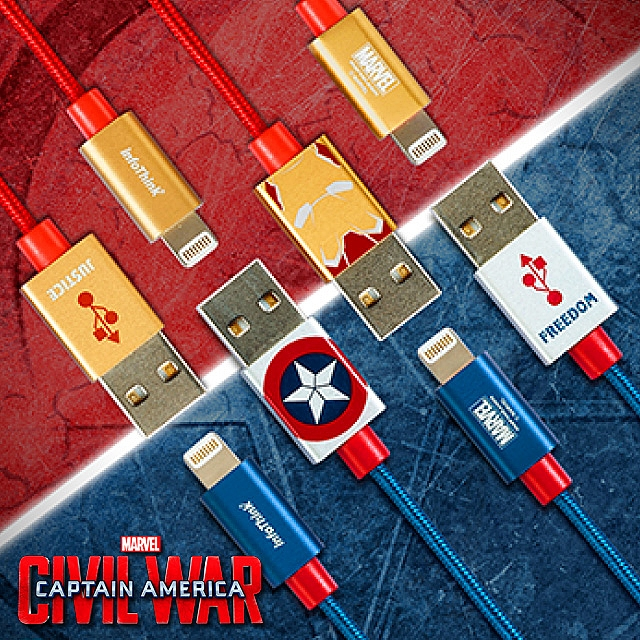 infoThink Captain America 3 - Lightning USB Sync Charging Cable