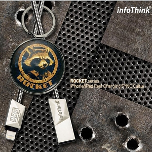 infoThink Guardian of the Galaxy Vol. 2 - Rocket Lightning USB Cable