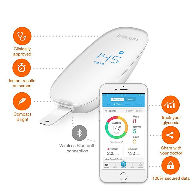 iHealth BG5 Bluetooth Blood Glucose Monitor