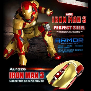 E-BLUE MARVEL IRON MAN 3 Edition USB Gaming Mouse
